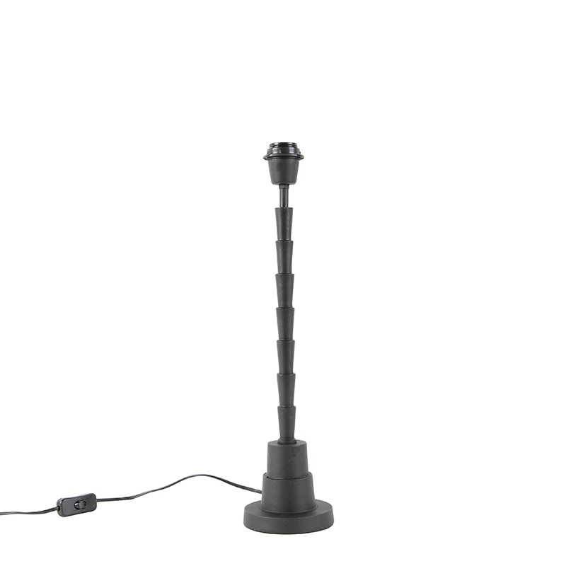 Art Deco tafellamp zwart zonder kap - Pisos
