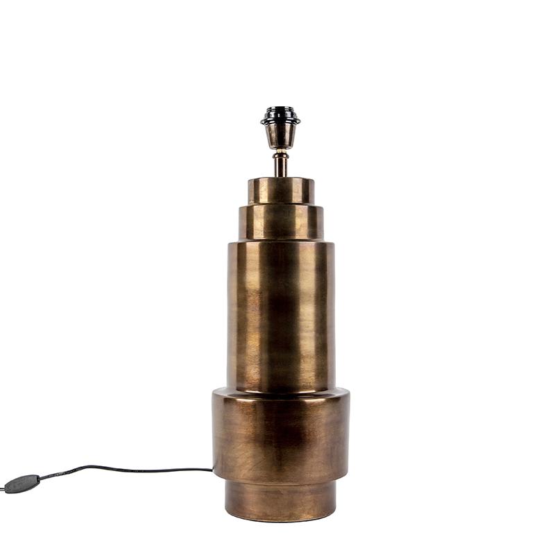 Art Deco tafellamp brons zonder kap - Bruut