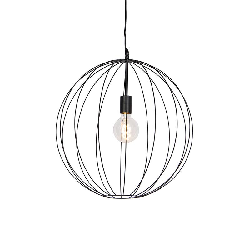 Design ronde hanglamp zwart 50 cm - Pelotas