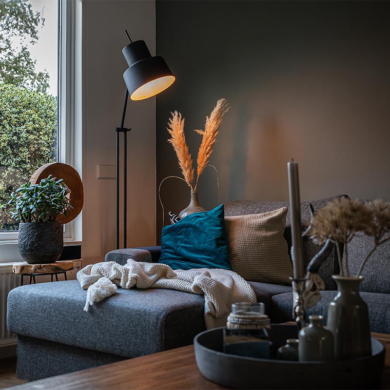 Retro vloerlamp zwart - Chappie