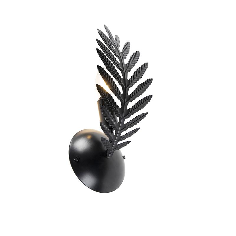 Vintage wandlamp zwart - Botanica