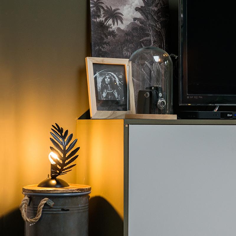 Vintage tafellamp small zwart - Botanica