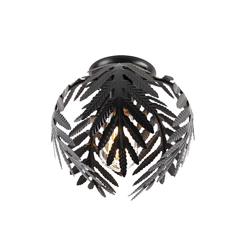 Vintage plafondlamp small zwart - Botanica