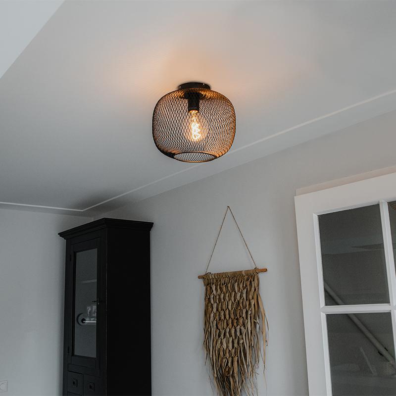 Moderne zwarte plafondlamp - Bliss Mesh