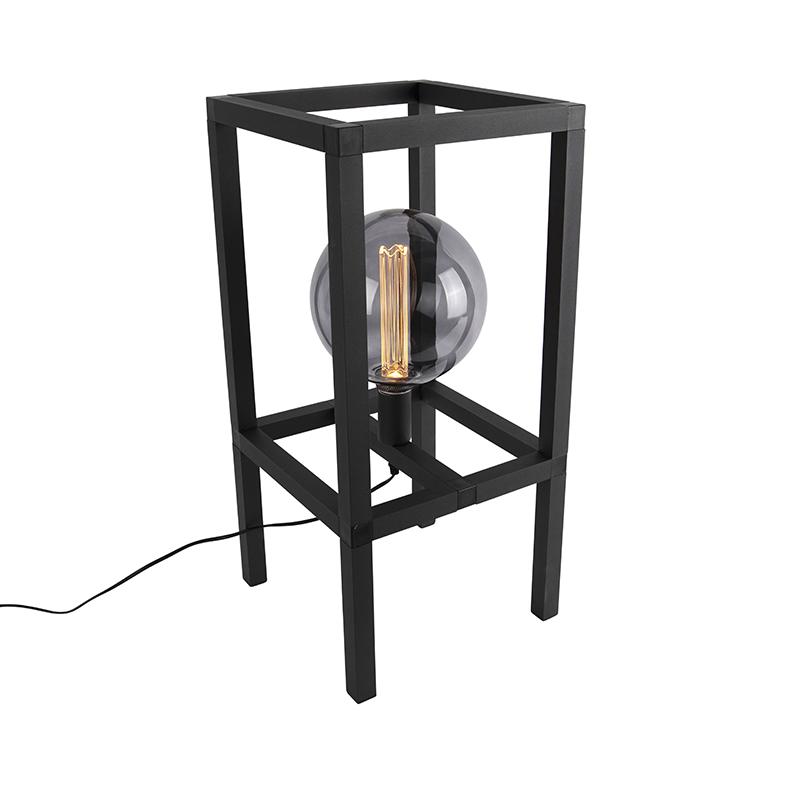 Przemysłowa lampa stołowa czarna - Big Cage 2