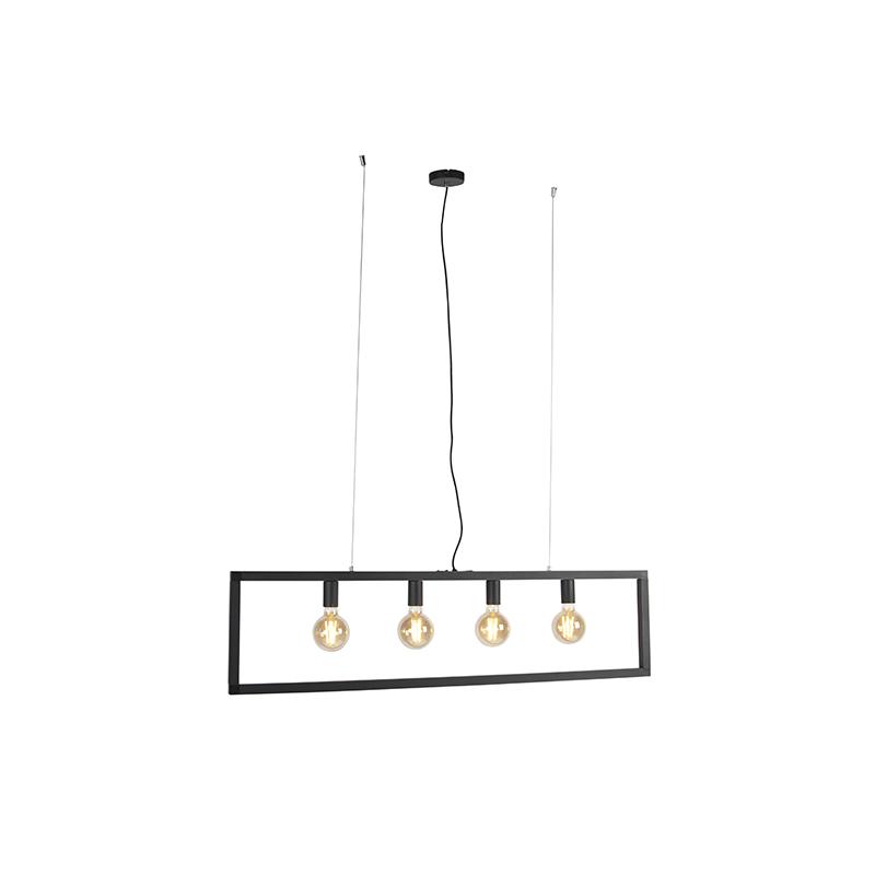 Moderne hanglamp zwart 4-lichts - Simple Cage 2