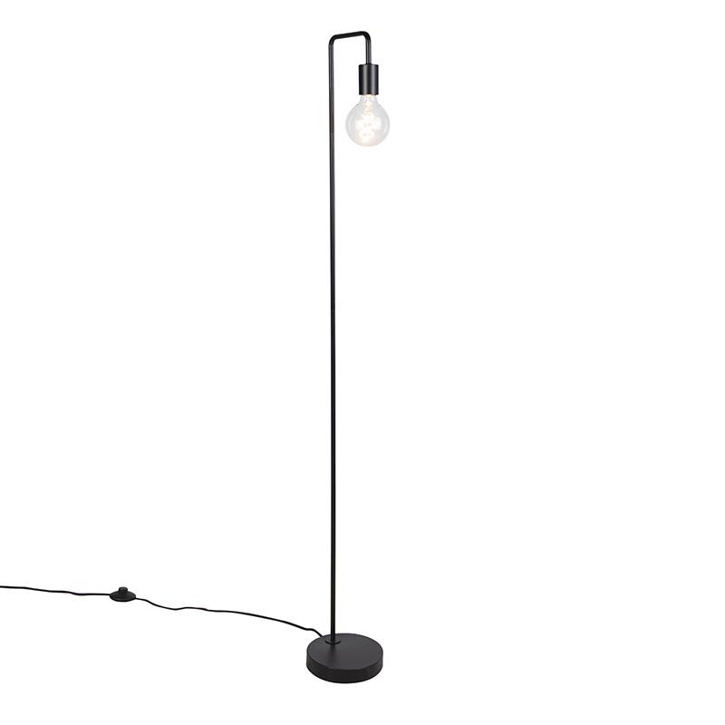 Nowoczesna lampa podłogowa czarna - Facil