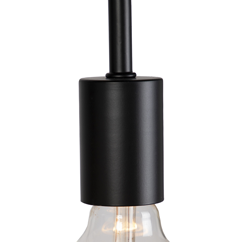 Moderne zwarte vloerlamp Facil
