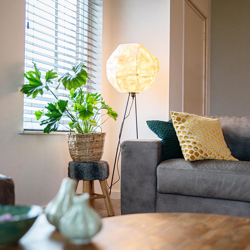 Scandinavische papieren vloerlamp wit - Pepa Ball