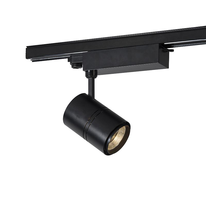 Moderne dimbare 3-fase railspot zwart incl. LED 3000K - Ruler 38