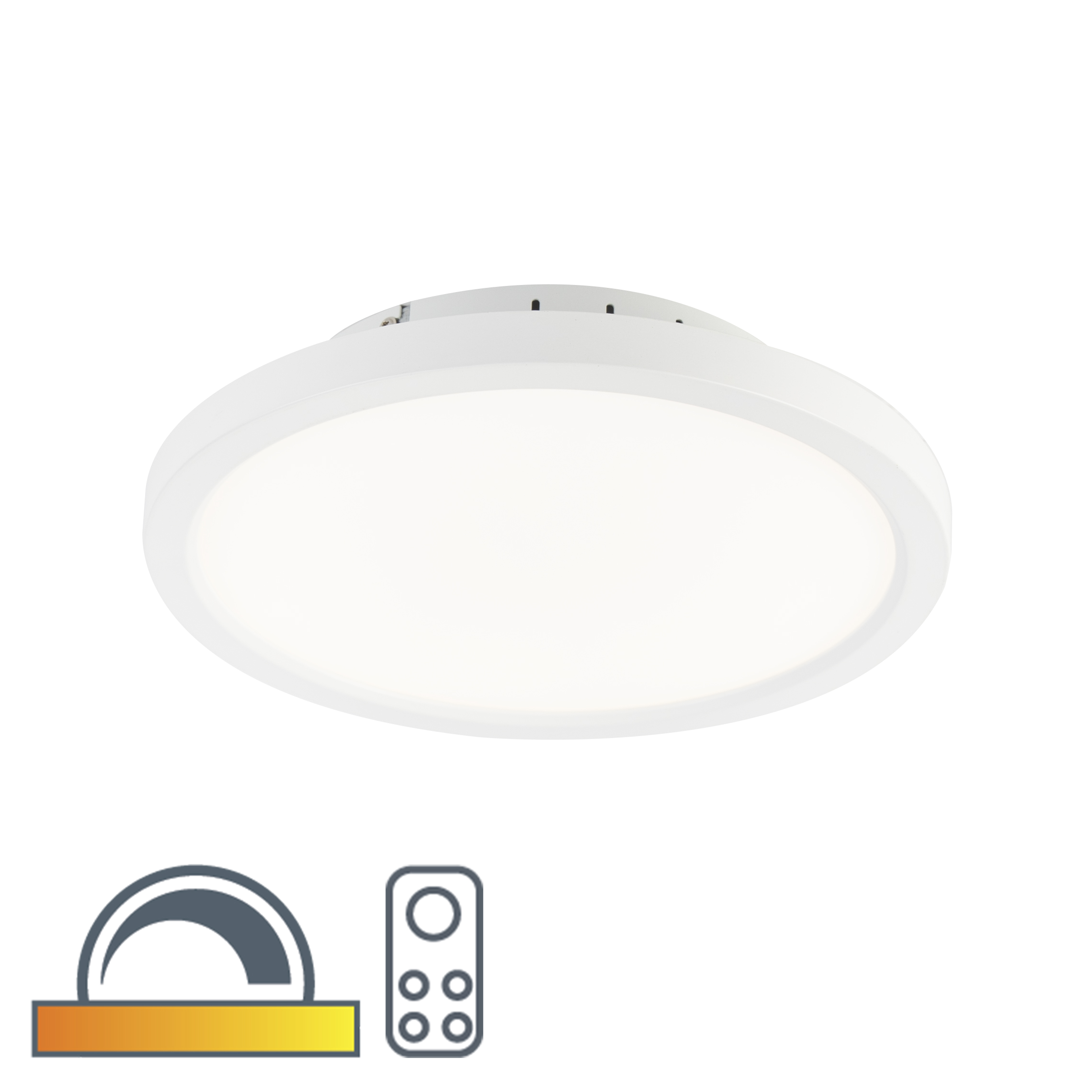 Moderne ronde plafonni�re wit 30cm incl. LED dim to warm - Flat
