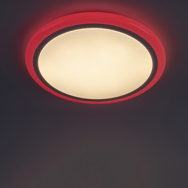 Moderne plafonnière wit incl. RGB LED met afstandsbediening - Mars