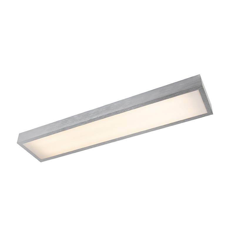 Moderne langwerpige plafonniere aluminium incl. LED - Four