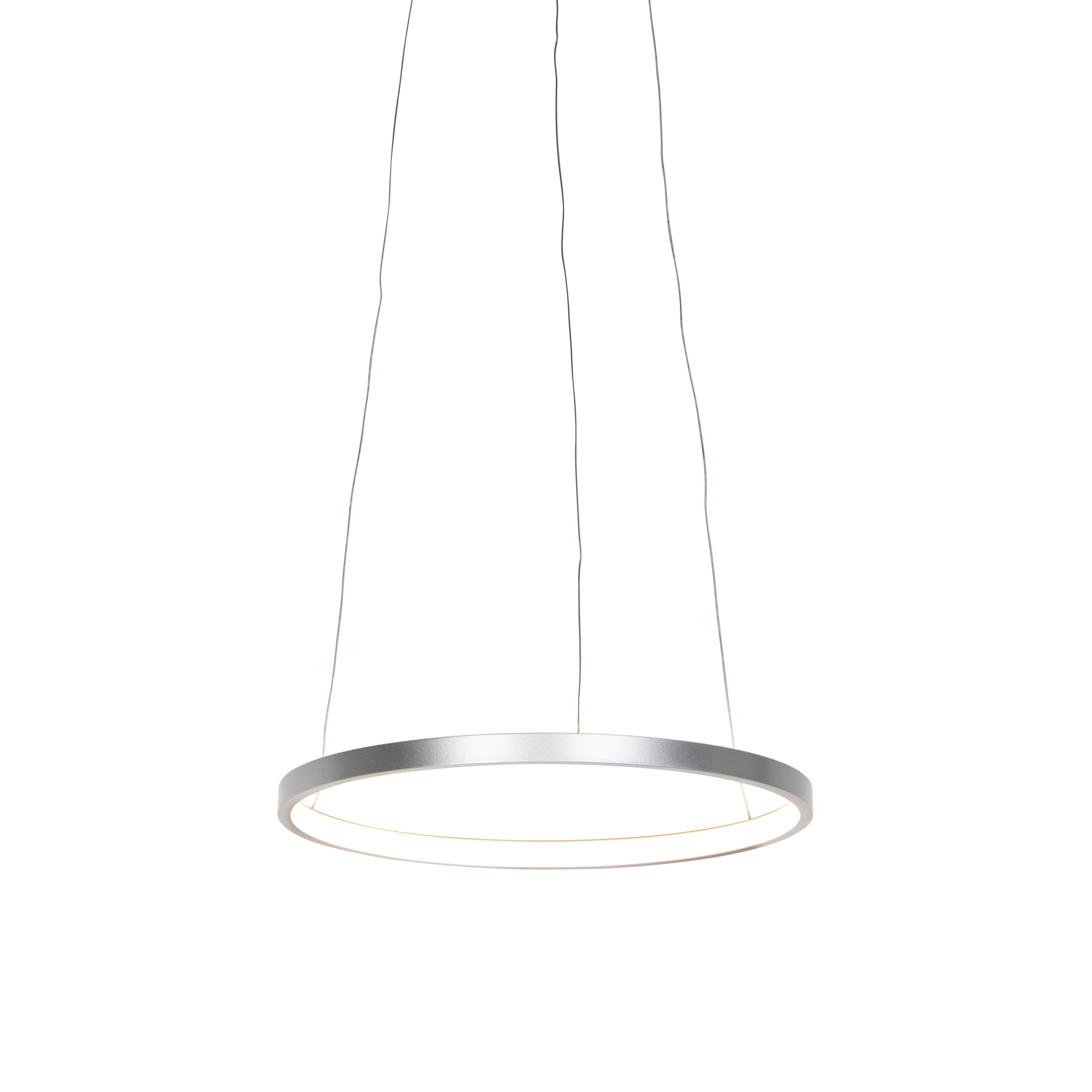 Moderne ring hanglamp zilver 40 cm incl. LED - Anella