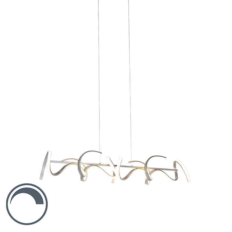 Designerska lampa wisząca srebrna LED ściemnialna - Krisscross