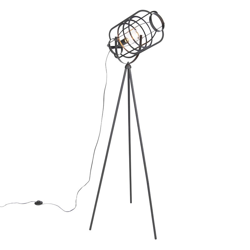 Industri�le vloerlamp tripod zwart - Zodiac