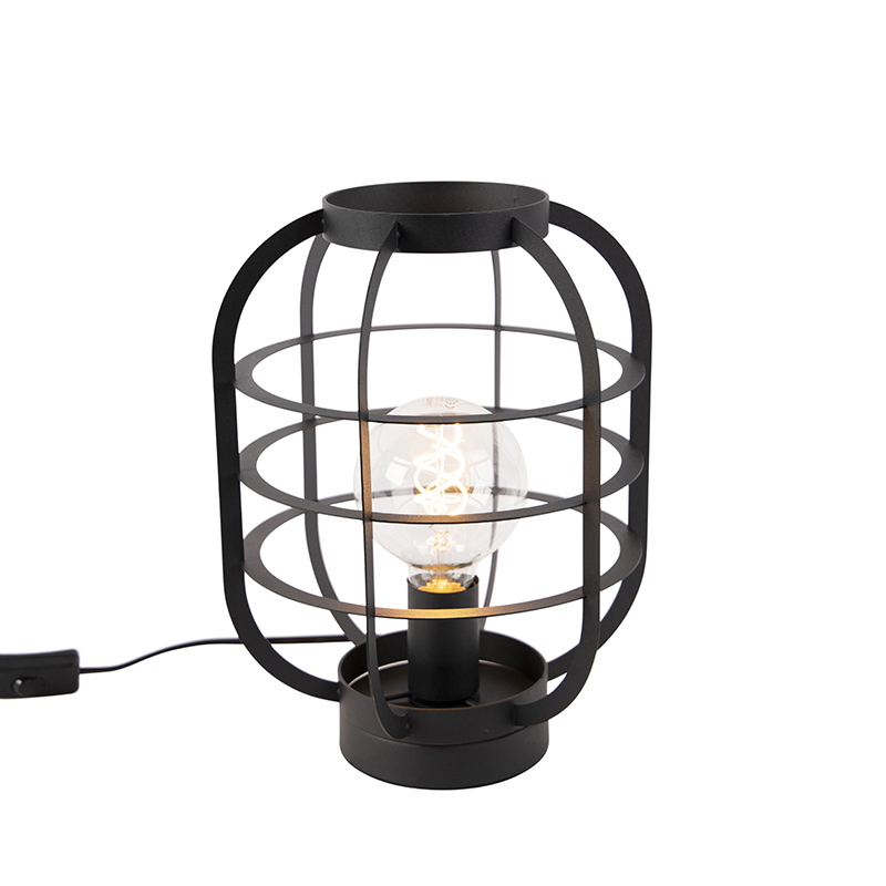 Industriele tafellamp zwart - Zodiac
