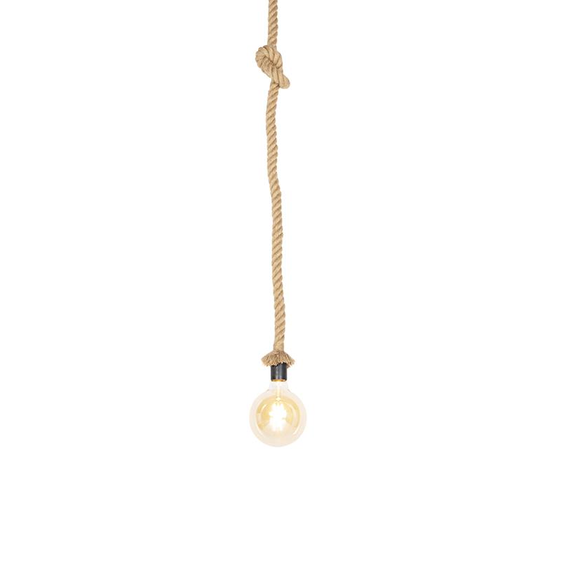 Wiejska lampa wisząca z liny 1-lekka - Ropa