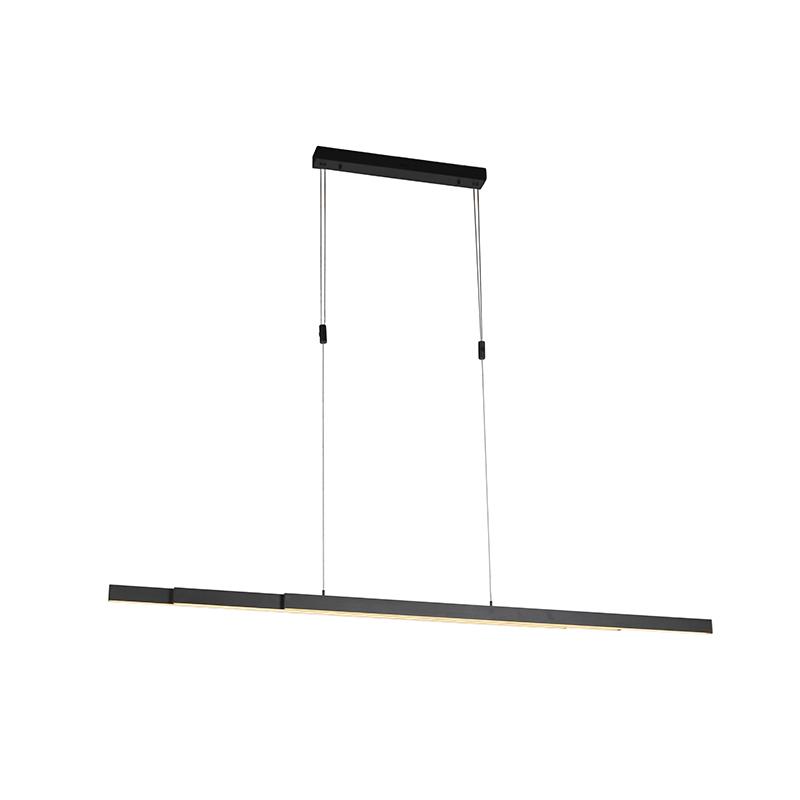 Hanglamp antraciet incl. LED en dimmer verstelbaar - Juliet