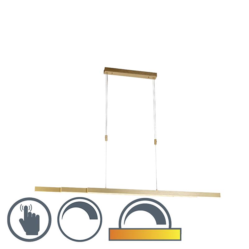 Regulowana lampa wisząca z mosiądzu przyciemniona i ciepła w tym LED - Juliet