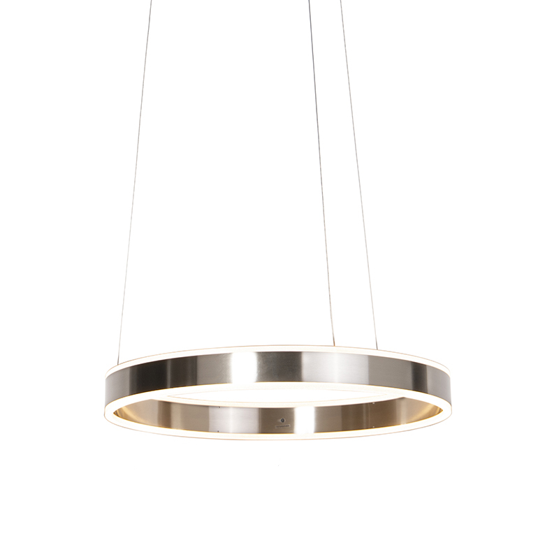 Moderne hanglamp staal incl. LED 60 cm dim to warm - Ollie