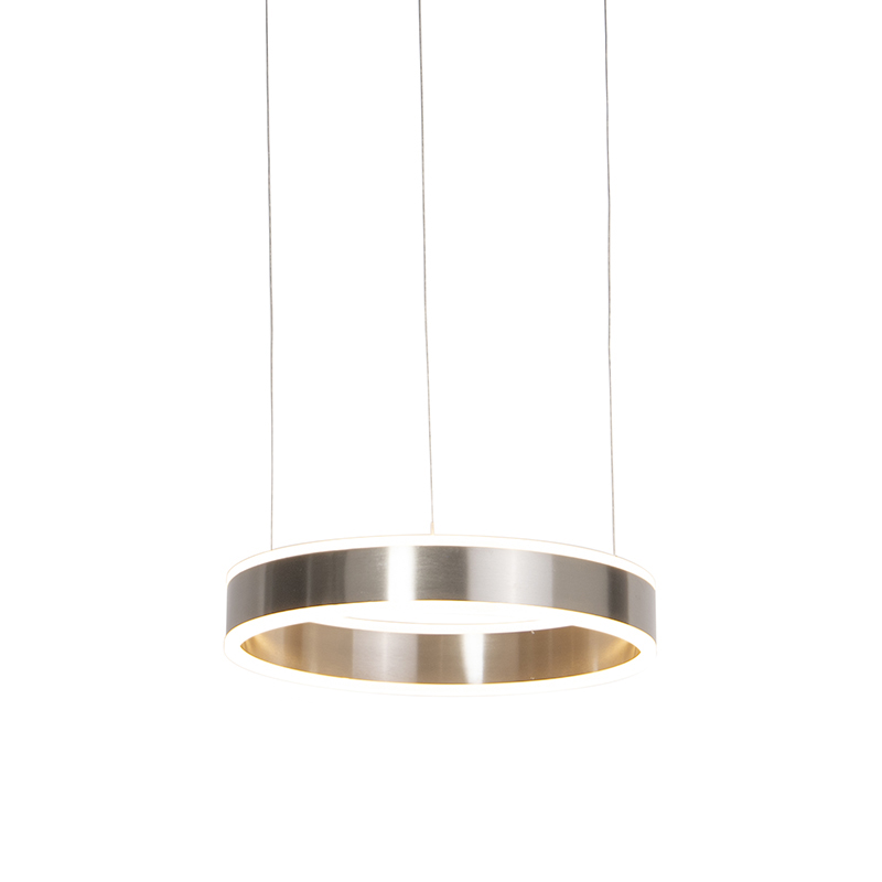 Moderne hanglamp staal incl. LED 40 cm dim to warm - Ollie