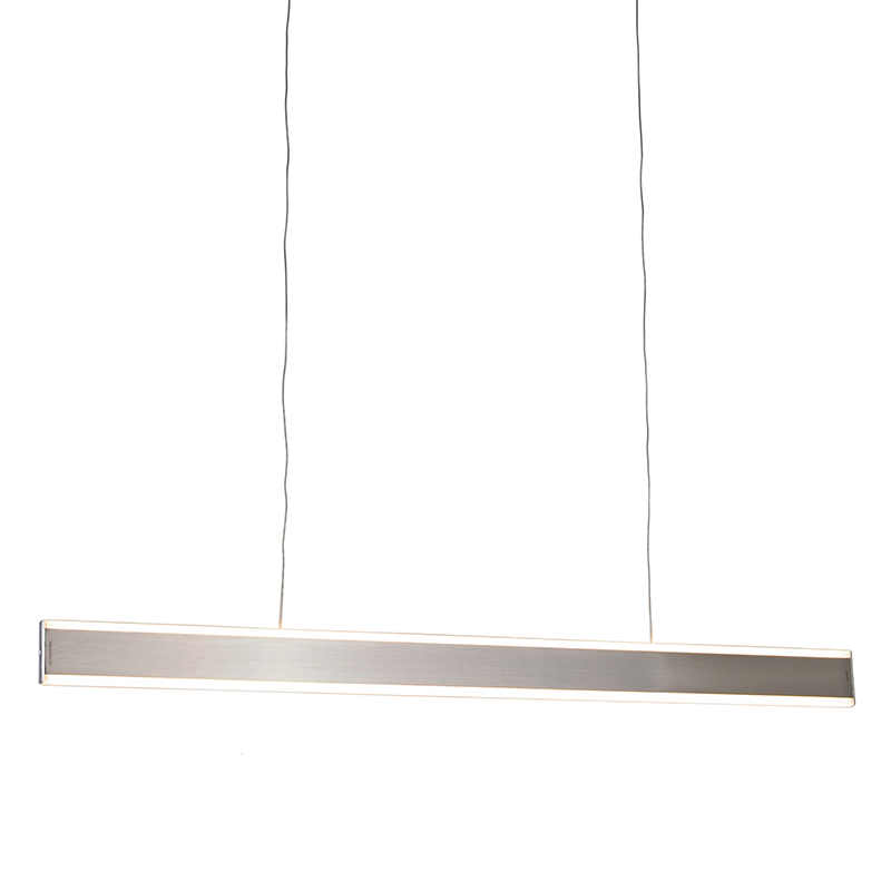 Moderne hanglamp staal incl. LED 100 cm dim to warm - Ollie