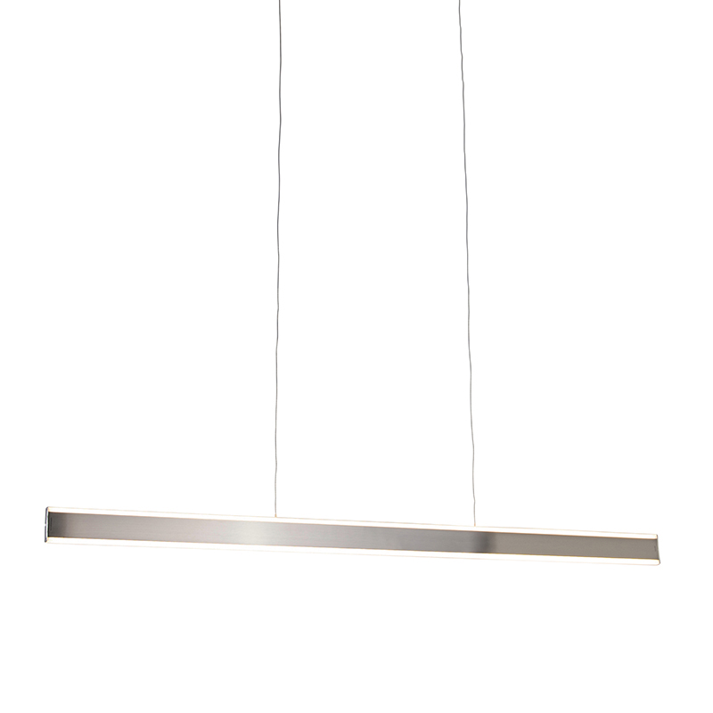 Moderne hanglamp staal incl. LED 140 cm dim to warm - Ollie