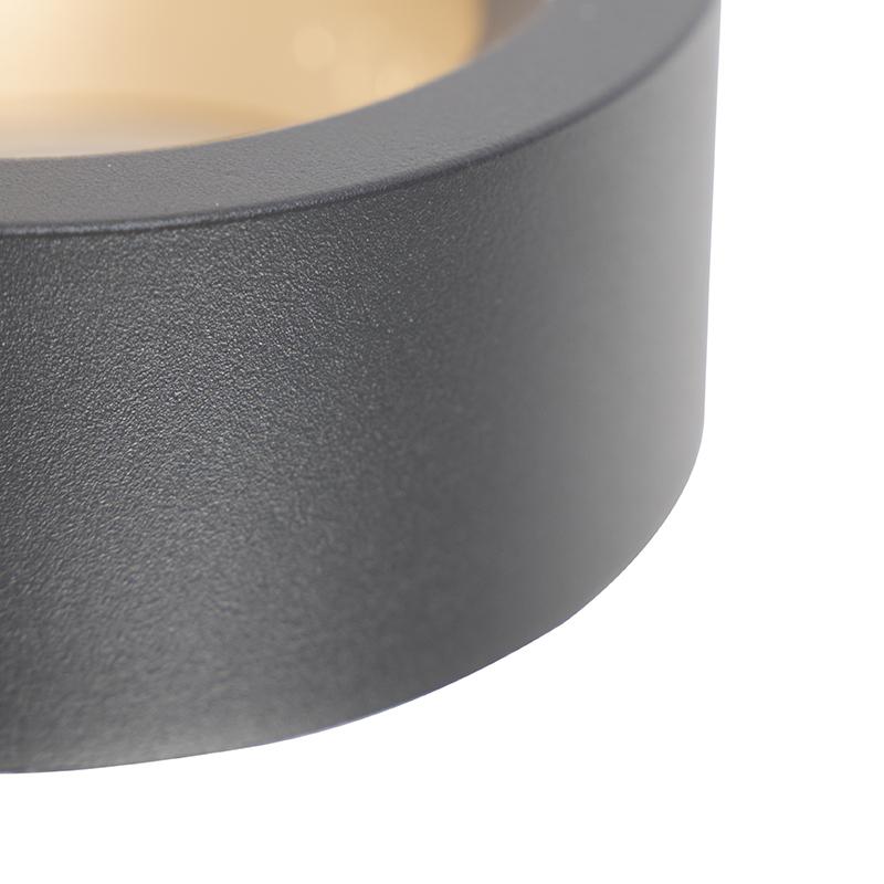 Designerski kinkiet zewnętrzny antracyt LED - Vasso uno