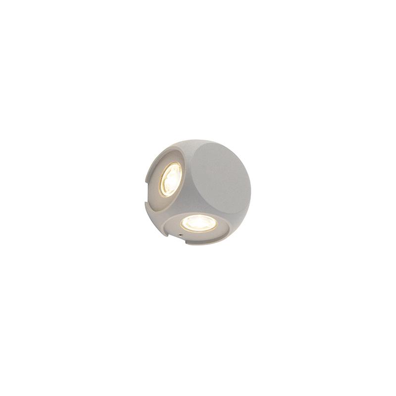 Design Buitenwandlamp Zilver 4-lichts - Silly