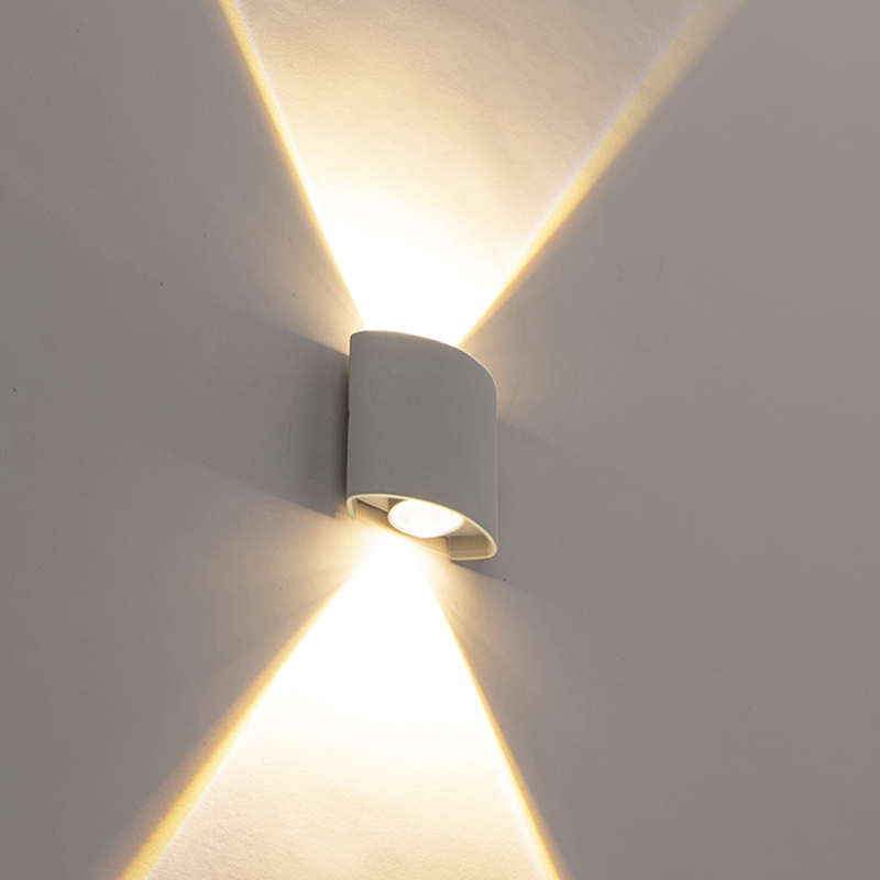 Design buitenwandlamp zilver incl. LED 2-lichts - Silly