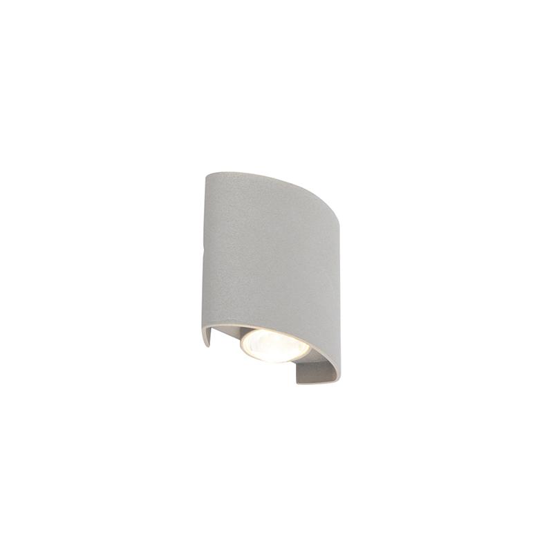 Design Buitenwandlamp Zilver 2-lichts - Silly
