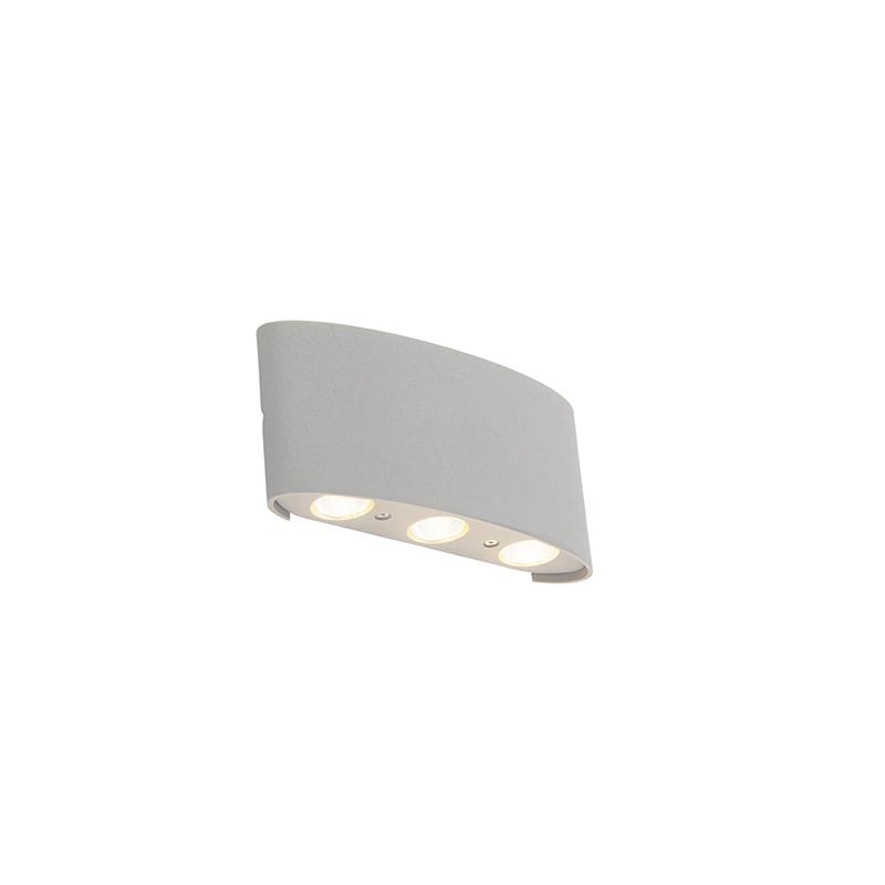 Design Buitenwandlamp Zilver 6-lichts - Silly