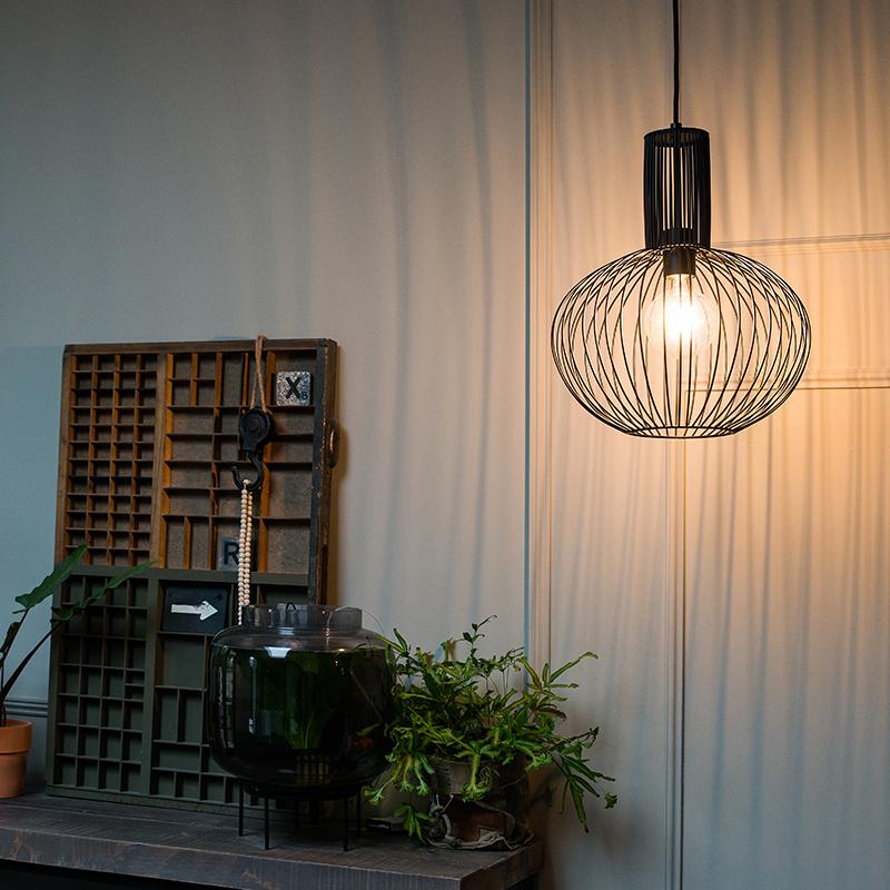 Design hanglamp zwart - Wire Bake