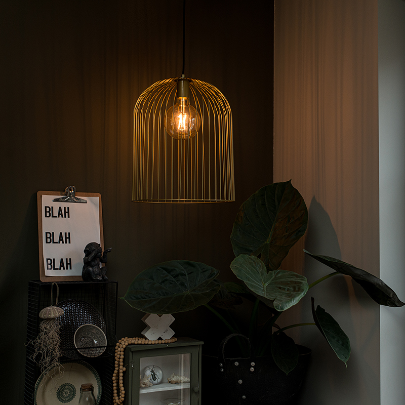 Design hanglamp goud - Wire Knock