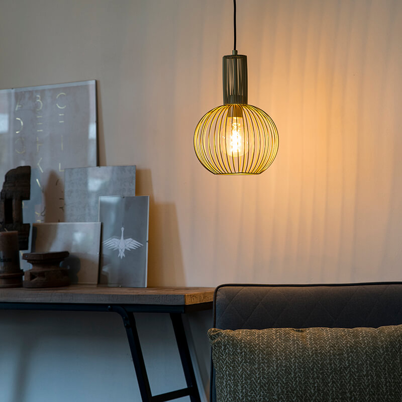 Design hanglamp goud - Wire Whisk