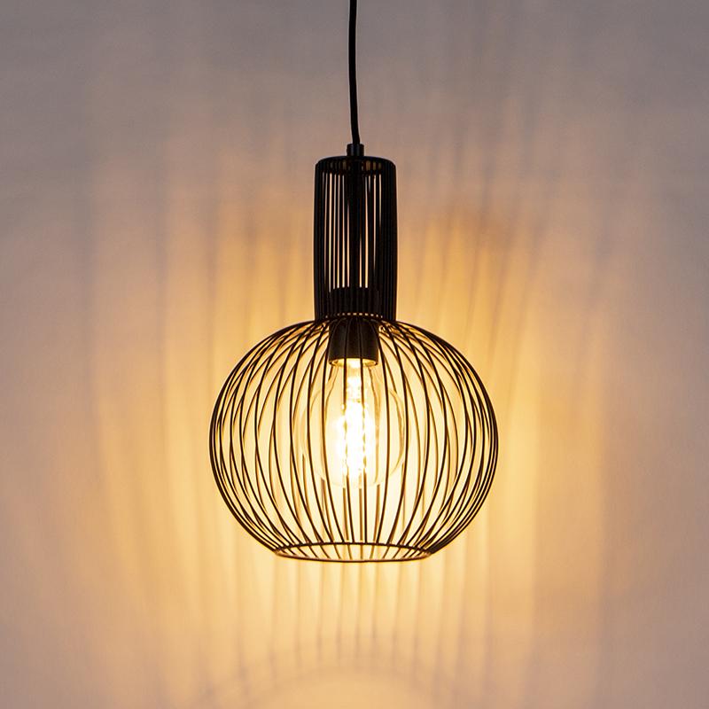 Design hanglamp zwart - Wire Whisk