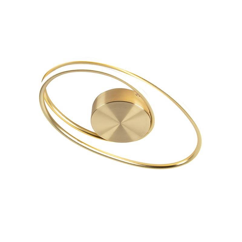 Design plafondlamp goud incl. LED 3 staps dimbaar - Rowan
