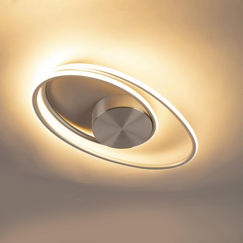 Design plafondlamp staal incl. LED 3 staps dimbaar - Rowan
