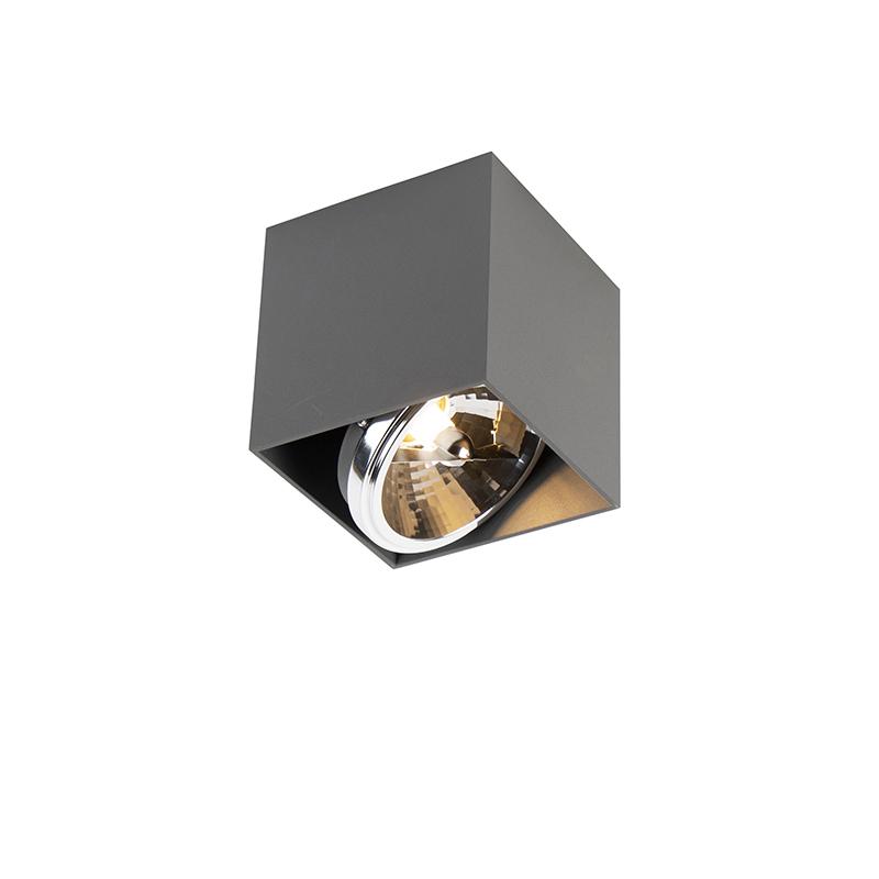 Design kwadratowy 1 jasnoszary w tym 1 x G9 - pudełko