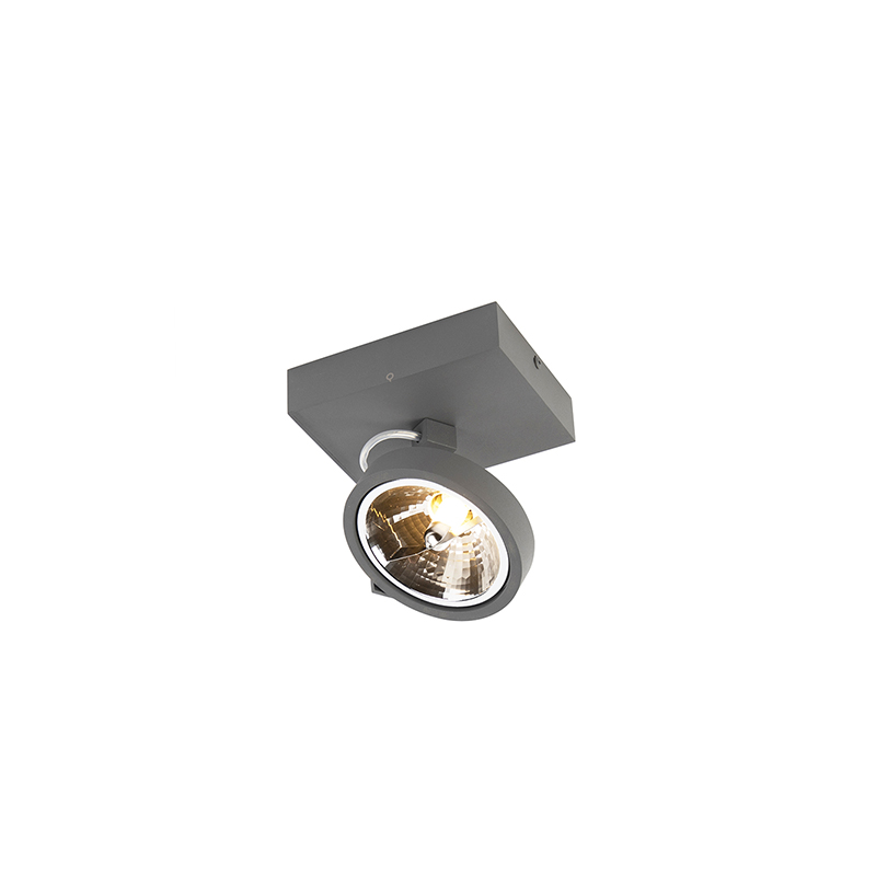 Design spot grijs verstelbaar 1-lichts incl. 1 x G9 - Go