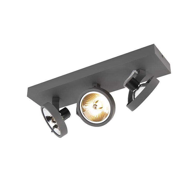 Design spot grijs verstelbaar 3-lichts incl. 3 x G9 - Go