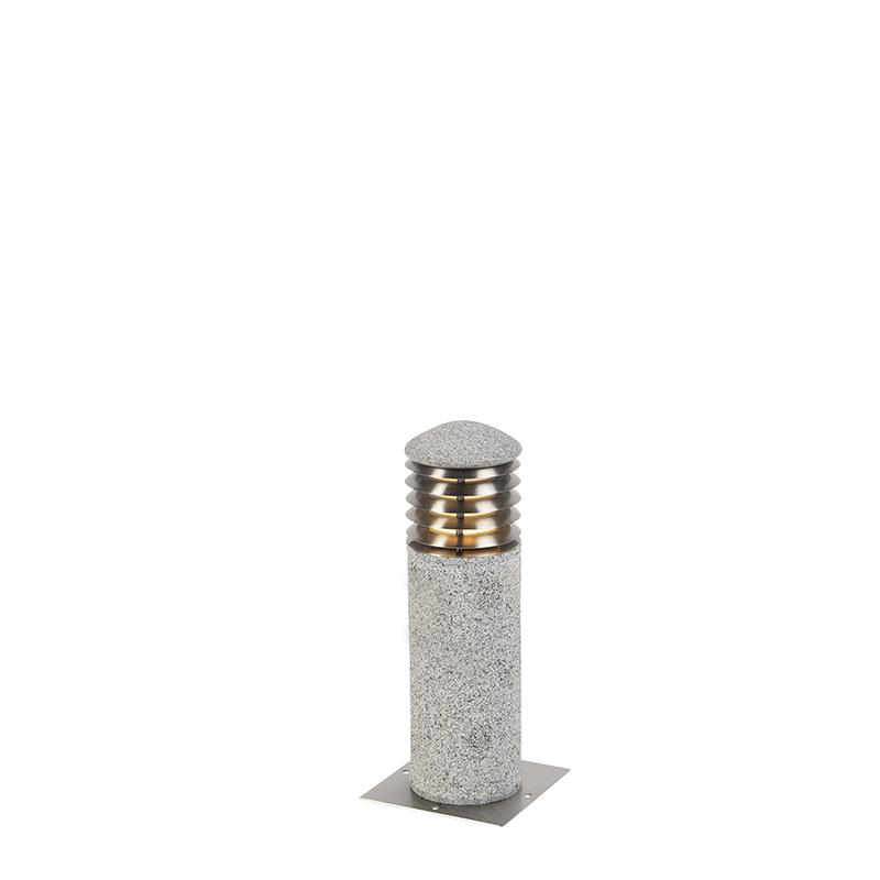Moderne staande buitenlamp graniet 40 cm - Happy