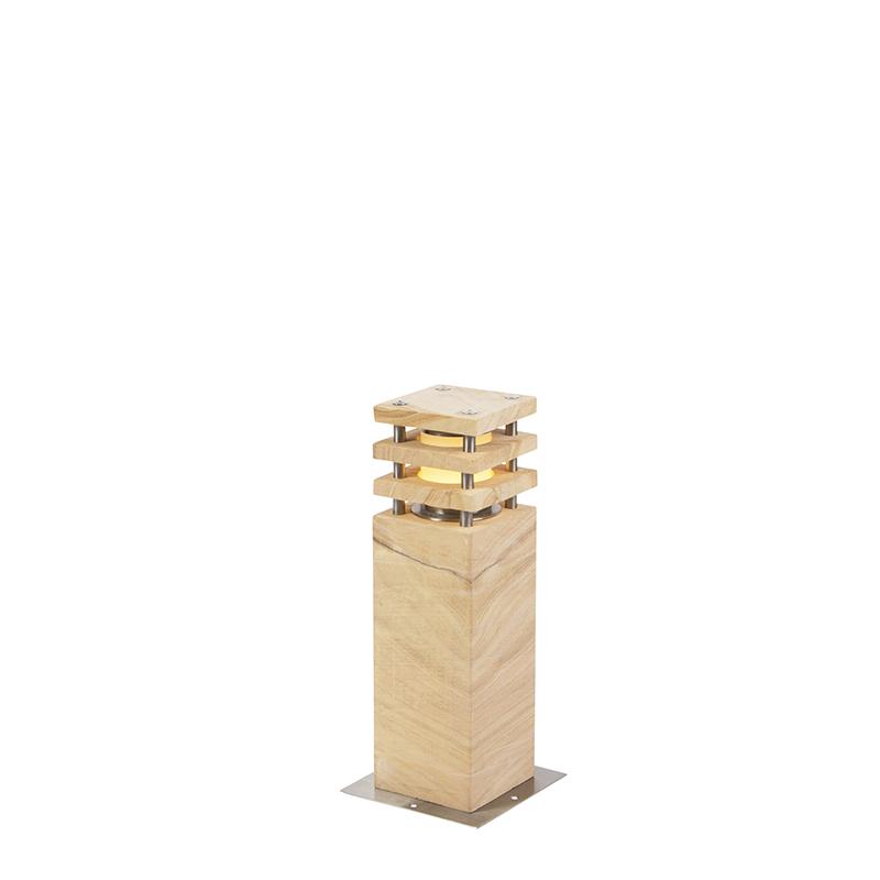 Moderne staande buitenlamp zandsteen 40 cm - Grumpy