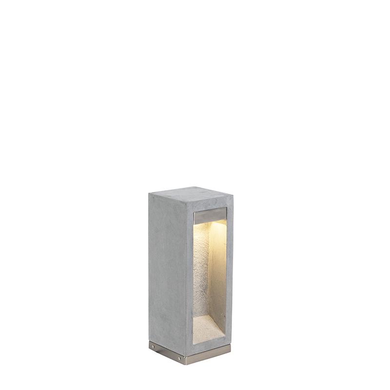 Moderne staande buitenlamp bazalt 40 cm - Sneezy
