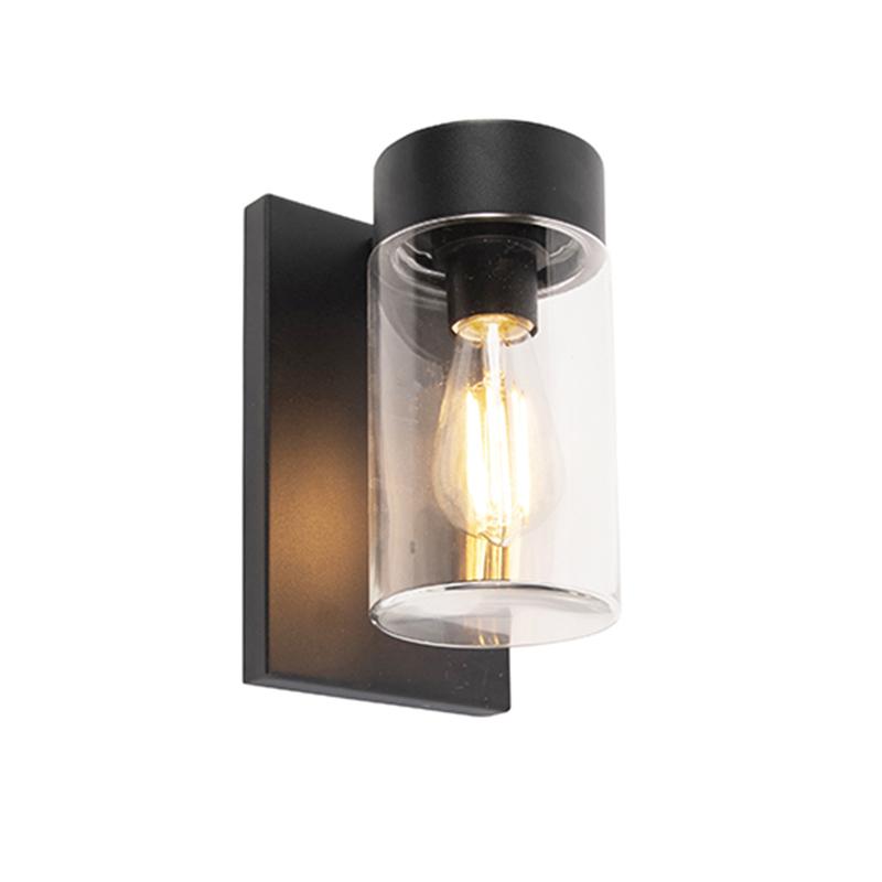 Moderne buitenwandlamp RVS zwart IP44 - Jarra