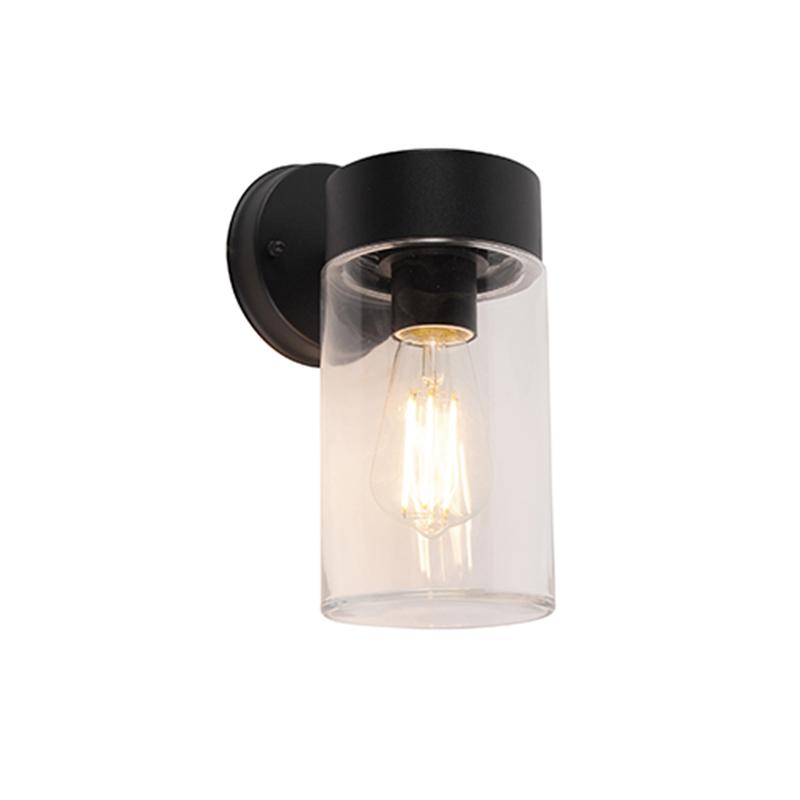 Moderne wandlamp zwart 26,8 cm IP44 - Jarra
