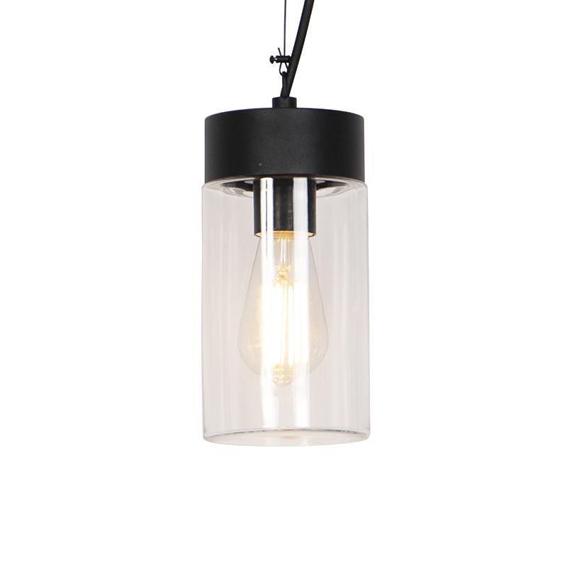 Moderne hanglamp zwart IP44 - Jarra