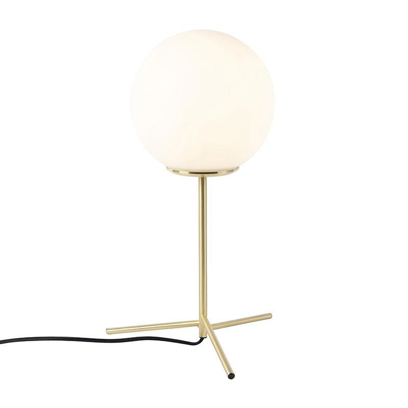 Art deco tafellamp messing met opaal glas 45,5 cm - Pallon