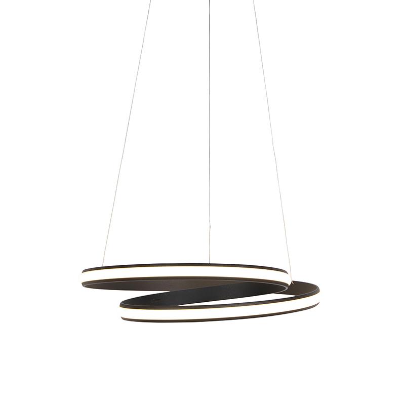 Design hanglamp zwart 55 cm incl. LED 3 staps dimbaar - Rowan